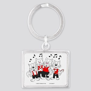 Chorus Cats in color best best Landscape Keychain