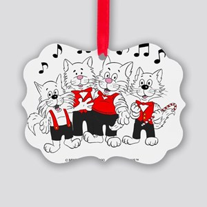 Chorus Cats in color best best Picture Ornament