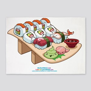 Kawaii Cali Sushi Cafe 5'x7'Area Rug