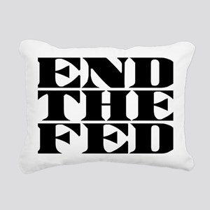 End The Fed W Rectangular Canvas Pillow