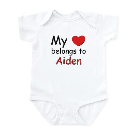 My heart belongs to aiden Infant Bodysuit