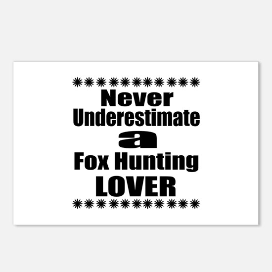 Never Underestimate Fox H Postcards (Package of 8)