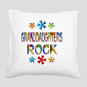 GRANDDAUGHTER Square Canvas Pillow