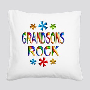 GRANDSONS Square Canvas Pillow
