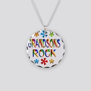 GRANDSONS Necklace Circle Charm