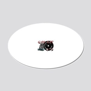 Rat png 20x12 Oval Wall Decal