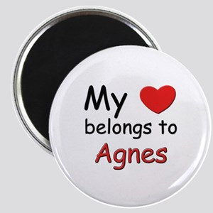 My heart belongs to agnes Magnet