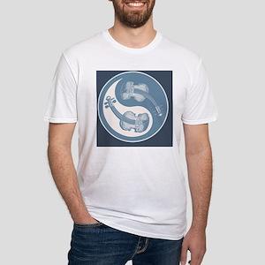 vioyin-yang-blu-CRD Fitted T-Shirt
