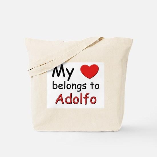 My heart belongs to adolfo Tote Bag
