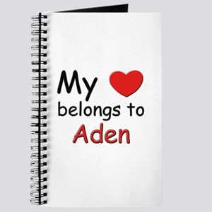 My heart belongs to aden Journal