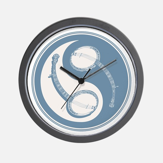 banjo-yang-blu-T Wall Clock