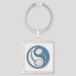 banjo-yang-blu-T Square Keychain