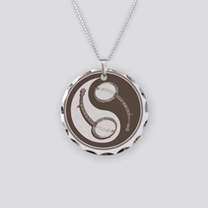banjo-yang-brn-T Necklace Circle Charm