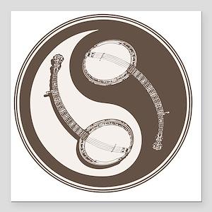 "banjo-yang-brn-T Square Car Magnet 3"" x 3"""