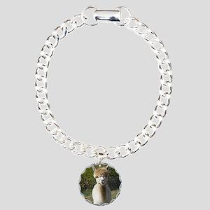 Peach closeup Charm Bracelet, One Charm
