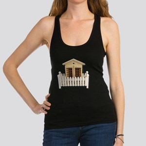 HouseWhitePicketFence082510 Racerback Tank Top