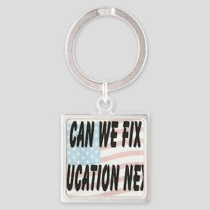 FIX EDUCATION Square Keychain