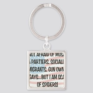SCARED OF SPIDERS Square Keychain