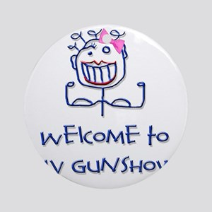 Welcome girl  Round Ornament
