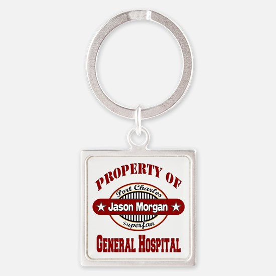 PROPERTY of GH Jason Morgan copy Square Keychain