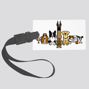 SS_Silver-Dogs-No-Text... Large Luggage Tag
