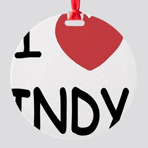 INDY Round Ornament
