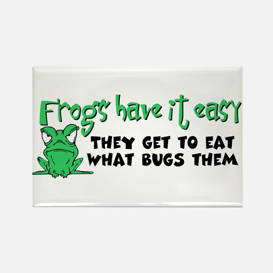 Frogs Have It Easy Rectangle Magnet