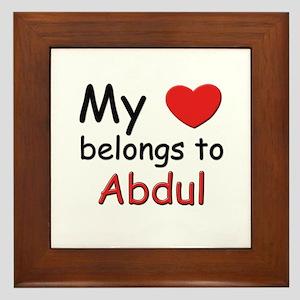 My heart belongs to abdul Framed Tile