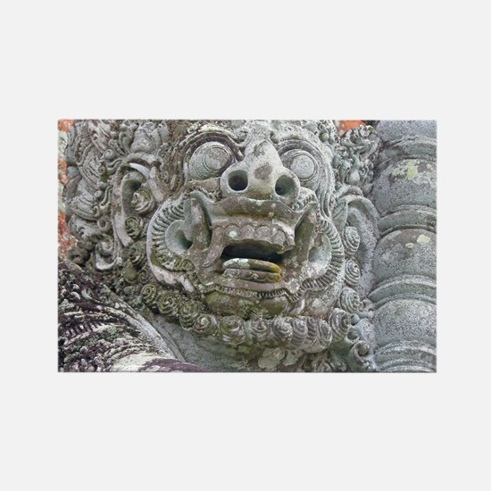 Balinese Temple Guardian Rectangle Magnet