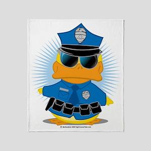 Police-Duck Throw Blanket