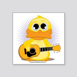 "Guitar-Duck Square Sticker 3"" x 3"""