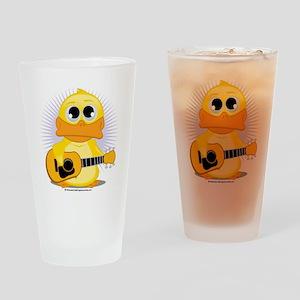 Guitar-Duck Drinking Glass