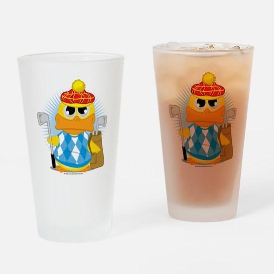 Golf-Duck Drinking Glass