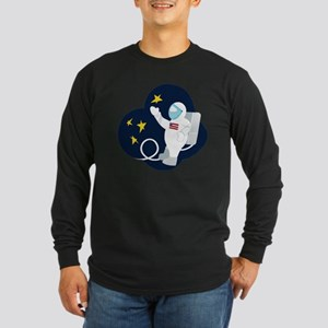 Astronaut Long Sleeve Dark T-Shirt