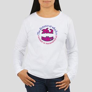 Women's Long Sleeve T-Shirt- marathon shirt