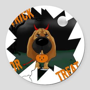 BloodhoundHalloweenShirt1 Round Car Magnet