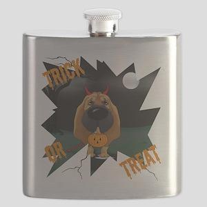 BloodhoundHalloweenShirt1 Flask