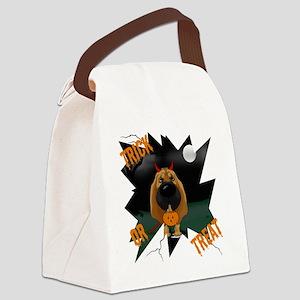 BloodhoundHalloweenShirt1 Canvas Lunch Bag