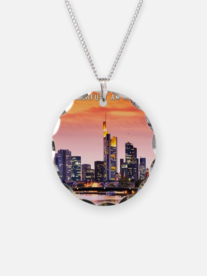 Frankfurt 02D Necklace Circle Charm