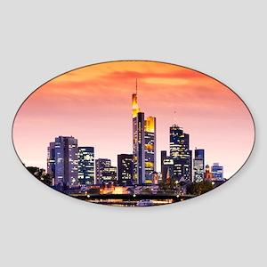 Frankfurt 02D Sticker (Oval)