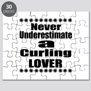 Never Underestimate Curling Lover Puzzle