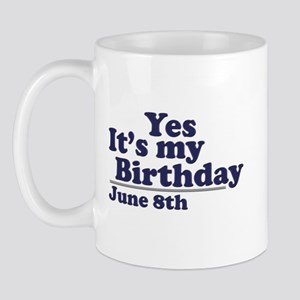 June 8 Birthday Mug