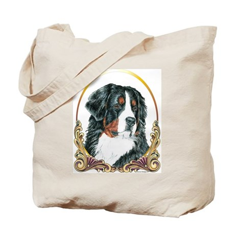 Bernese Mountain Dog Christmas Tote Bag