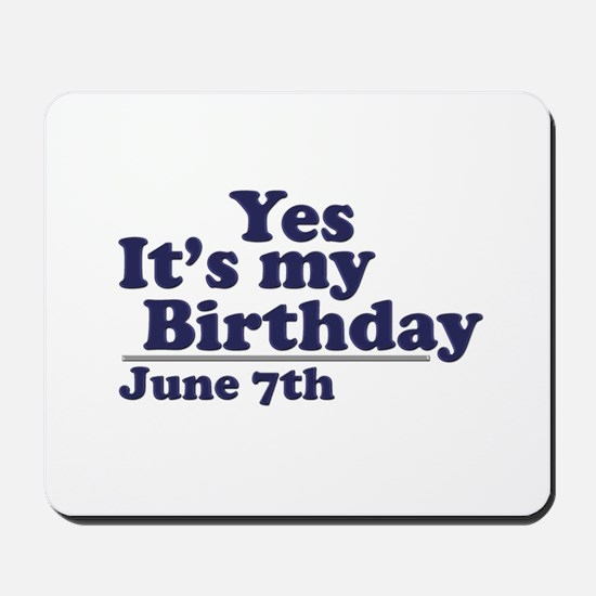 June 7 Birthday Mousepad