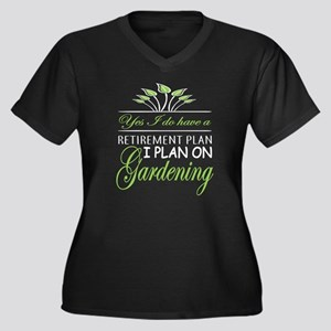 I Plan On Gardening T Shirt Plus Size T-Shirt