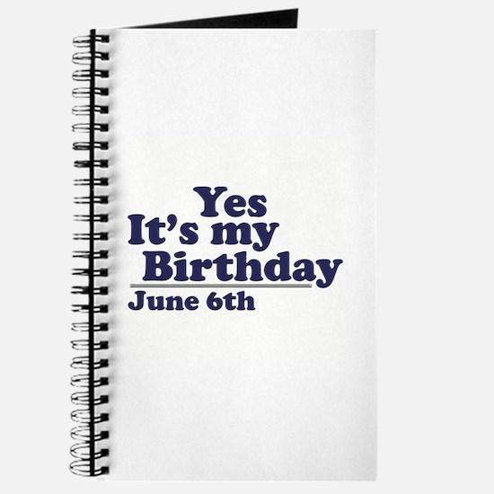 June 6 Birthday Journal