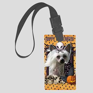 HalloweenNightmare_Chinese_Crest Large Luggage Tag