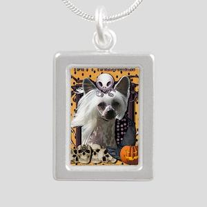 HalloweenNightmare_Chine Silver Portrait Necklace