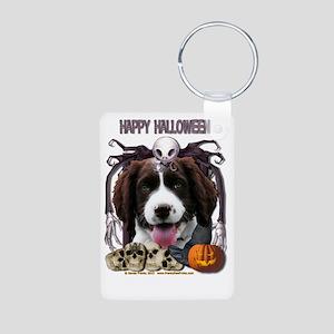 HalloweenNightmare_English Aluminum Photo Keychain