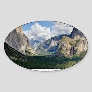 YosemiteValley14x10 Sticker (Oval)